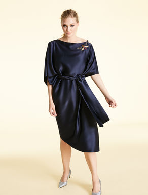 Dress in glossy frisottino