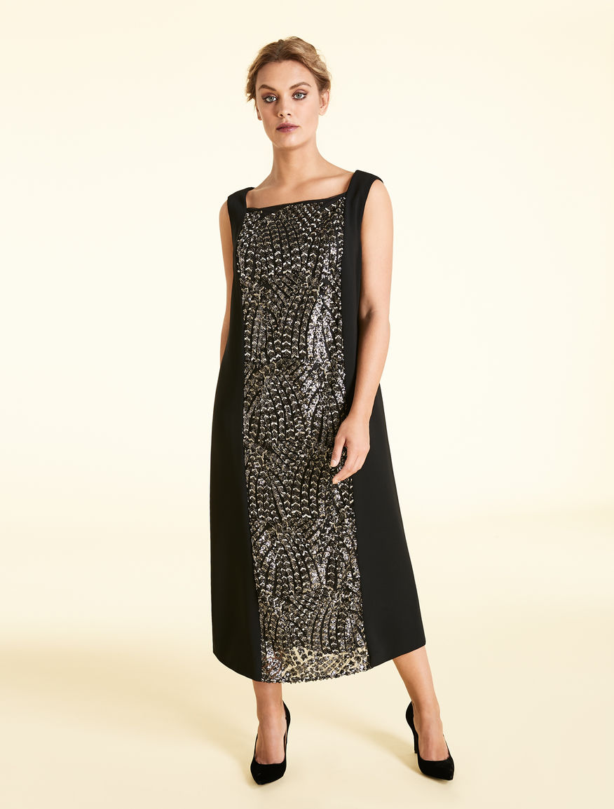 Long triacetate dress