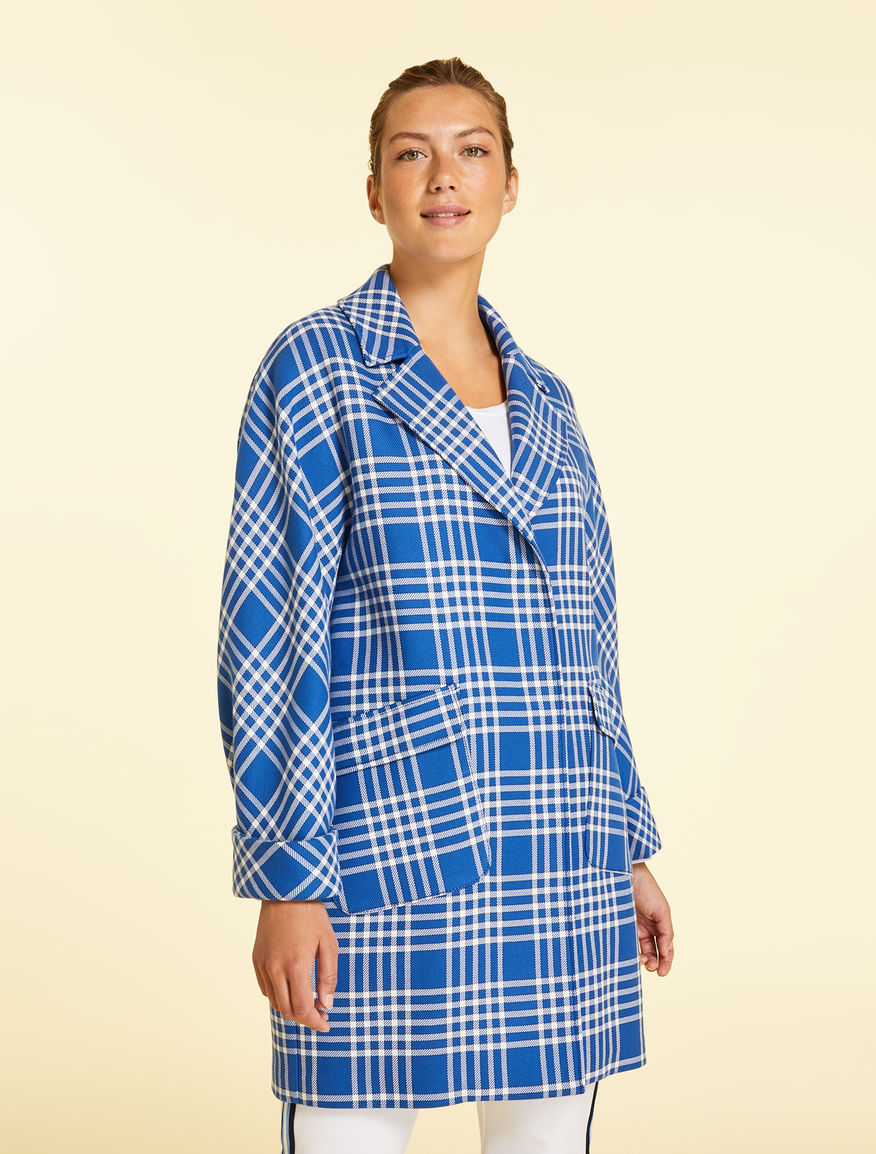 Double-sided cotton blend coat