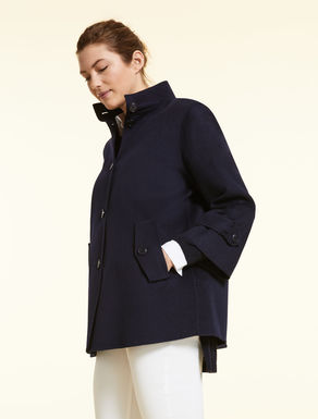 Double-layer wool-blend coat