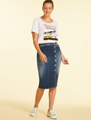 Etuirock aus Denim