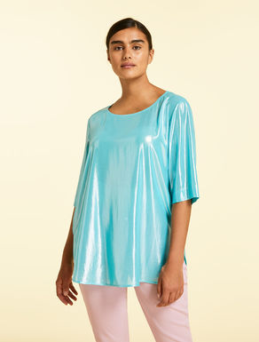 Tunic in metallic fabric