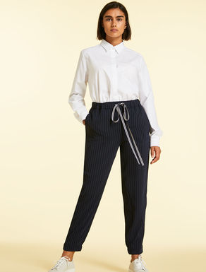 Flowing fabric trousers