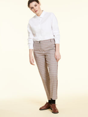Cotton cigarette trousers