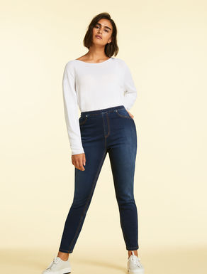 Jeans Leggings Fit aus Satin-Denim