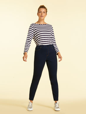 Jeans Leggings Fit aus Denim-Jersey
