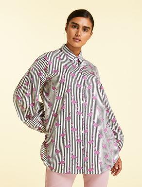 Bluse aus Baumwollsatin