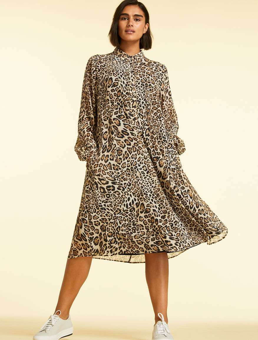 Georgette shirt dress