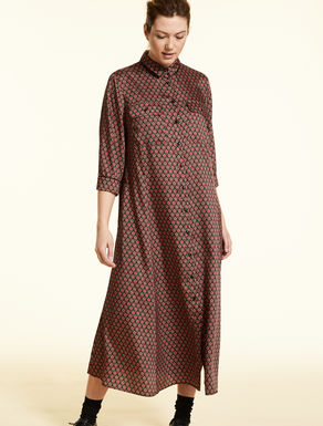 Twill shirt dress
