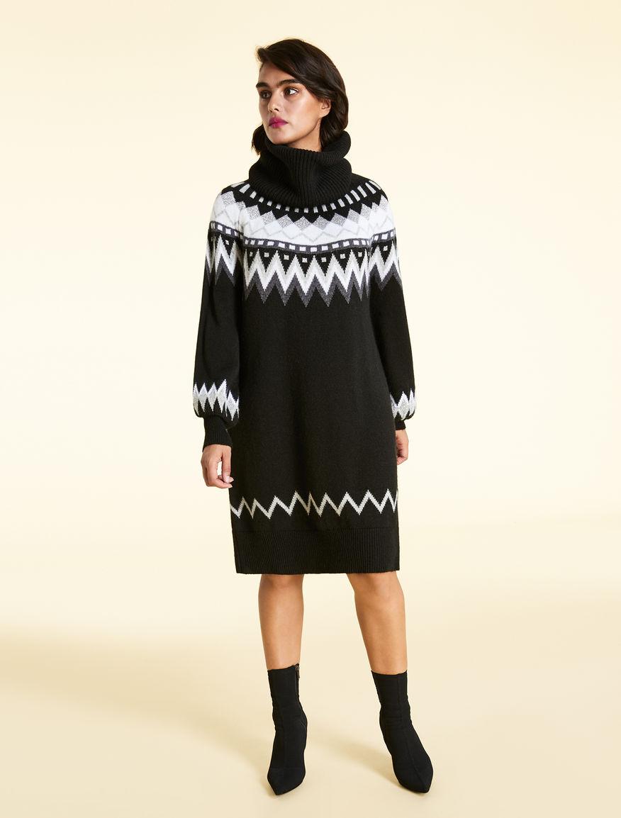 Alpaca jacquard dress