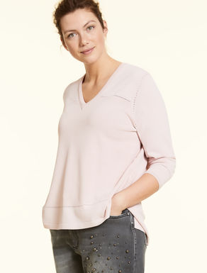 Viscose crepe jumper