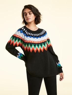 Pullover aus Alpaka-Jacquard-Gemisch