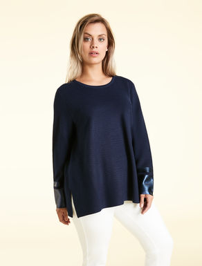 Viscose blend sweater