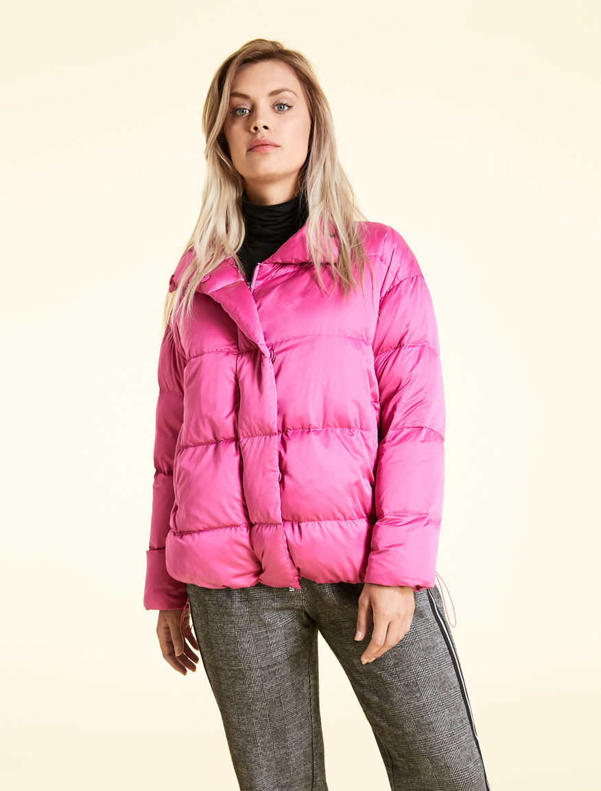 Ultra-light satin down jacket