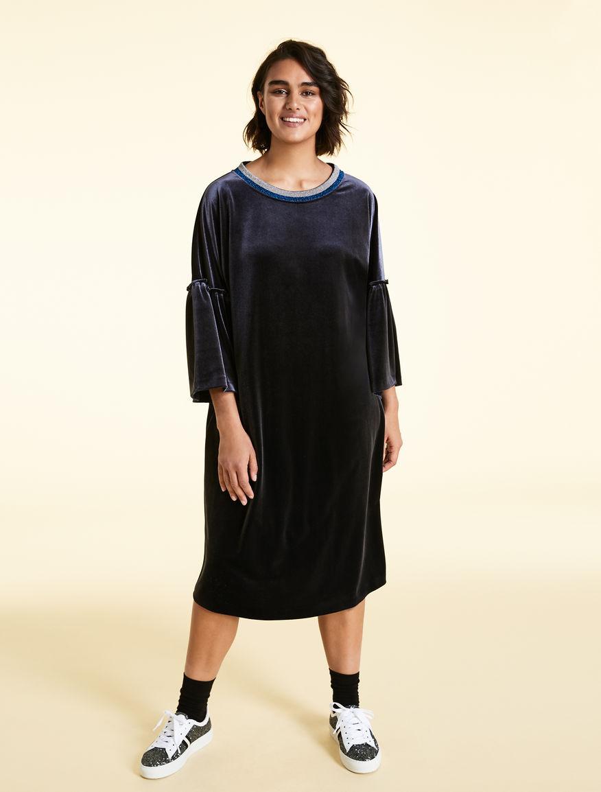 Velvet jersey dress