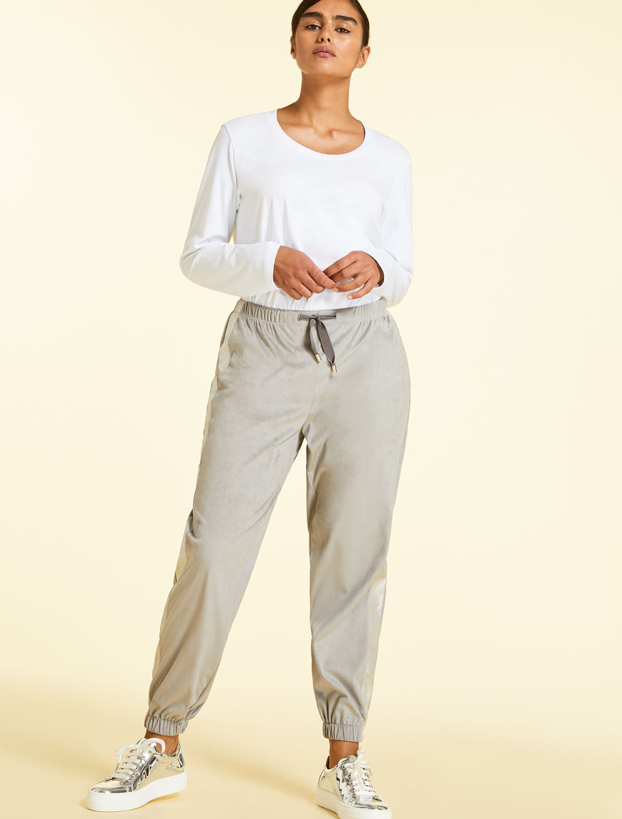 Deerskin-effect jogging trousers