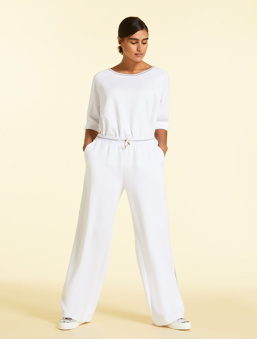 Interlock jersey trousers