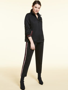 Technical jersey jogging trousers