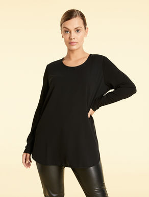 EASY Tunic in floaty fabric and jersey