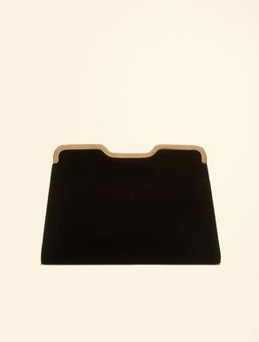 Maxi velvet clutch