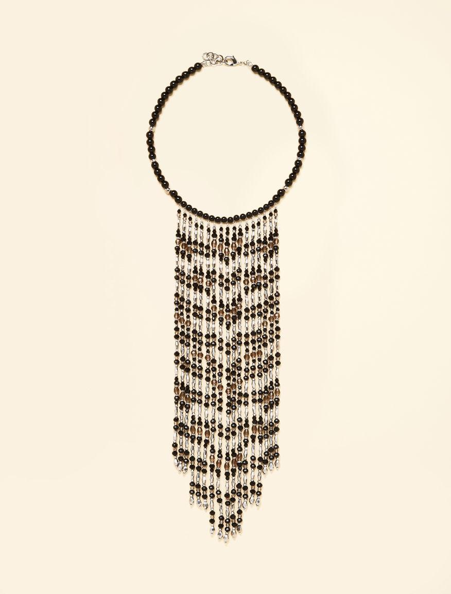 Collana con perline e cristalli