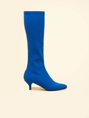 Knee-high boots in technical fabric