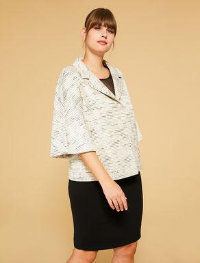 Lurex jacquard jacket