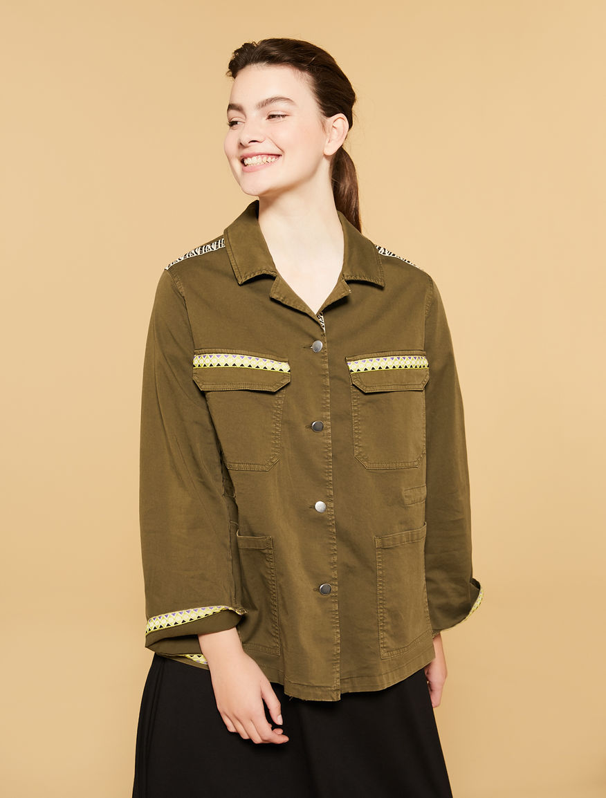 Stretch gabardine jacket