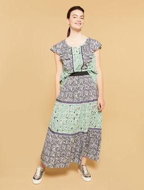 Falda larga de muselina de algodón