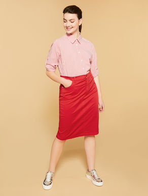 Stretch gabardine skirt