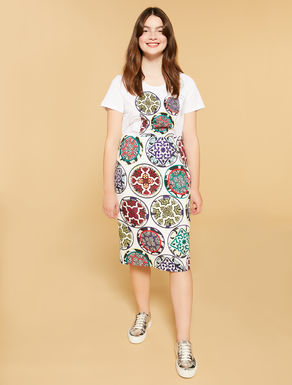 Printed mat sheath skirt