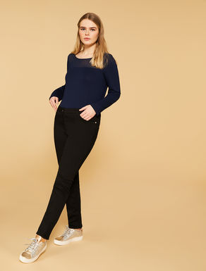 Perfect fit diagonal stretch trousers