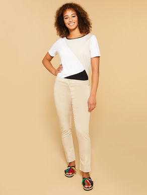 Comfort fit cotton trousers