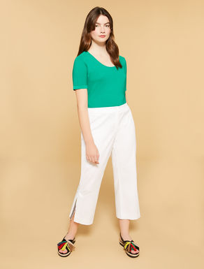 Cotton piquet trousers