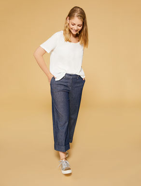 Stretch denim gabardine jeans