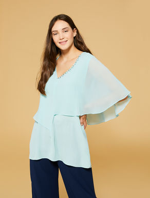 Flowing fabric tunic