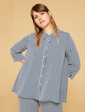 Printed cady shirt