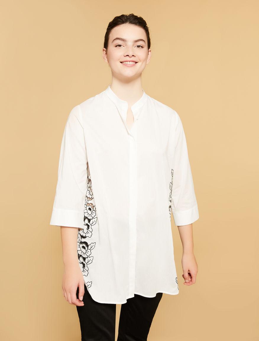Lightweight poplin long shirt