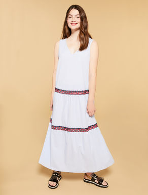 Striped light cotton long dress
