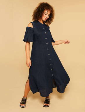 Heavy linen long dress
