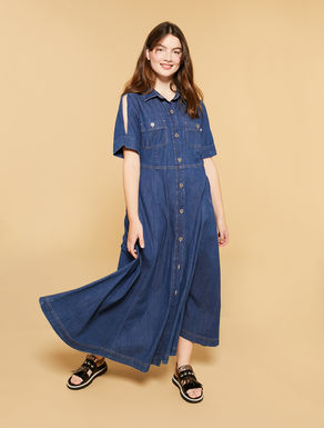 Light denim long dress