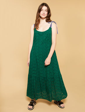 Long dress in sangallo lace