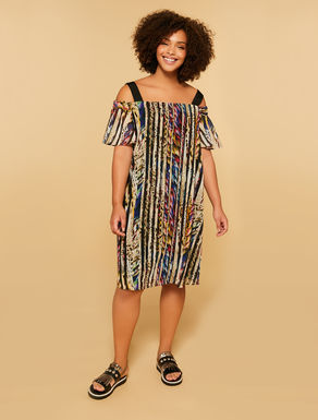Dress in printed georgette