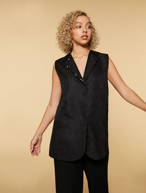 Gilet im Long Fit aus Jacquard