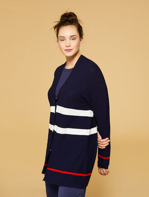 Cardigan en crêpe de viscose stretch