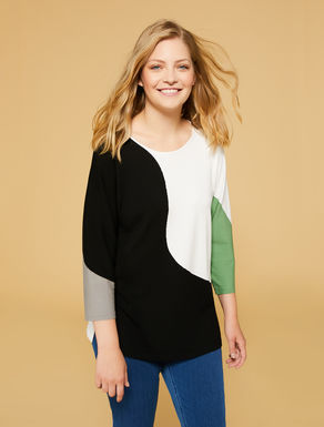 Pull en viscose stretch