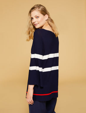 Stretch crêpe viscose sweater