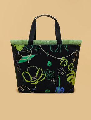 Oversize canvas shopping bag
