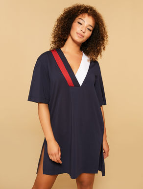 Cotton stretch jersey dress