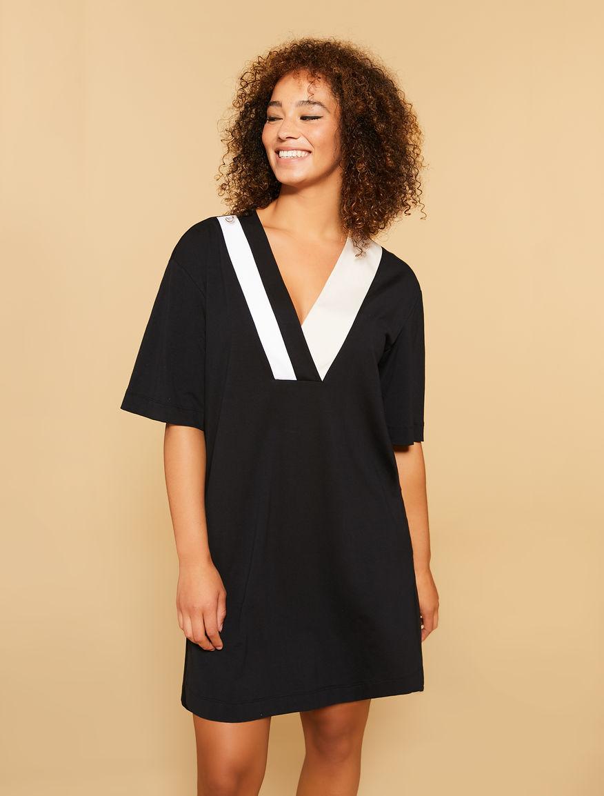 Vestido de punto de algodón elástico